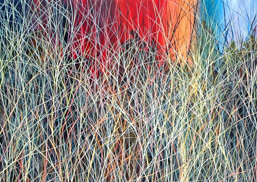 Charlie Burk Grass Paintings