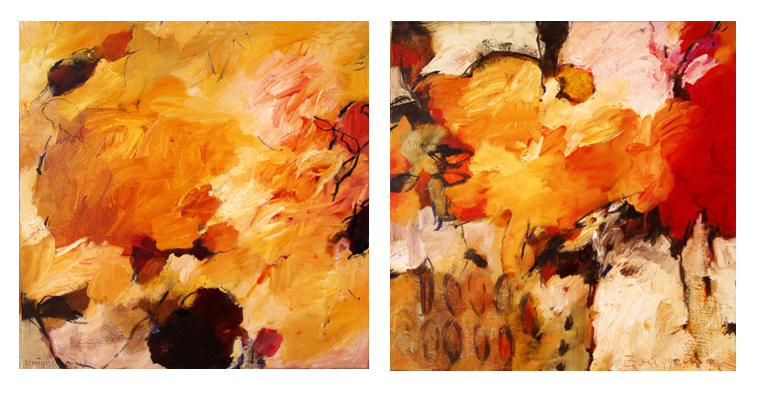 Come Into My Garden I & II (diptych)