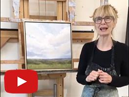 "Jamie Kirkland presents her newest painting ""Afternoon Sky"""