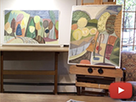 Sarah Bienvenu inside her studio