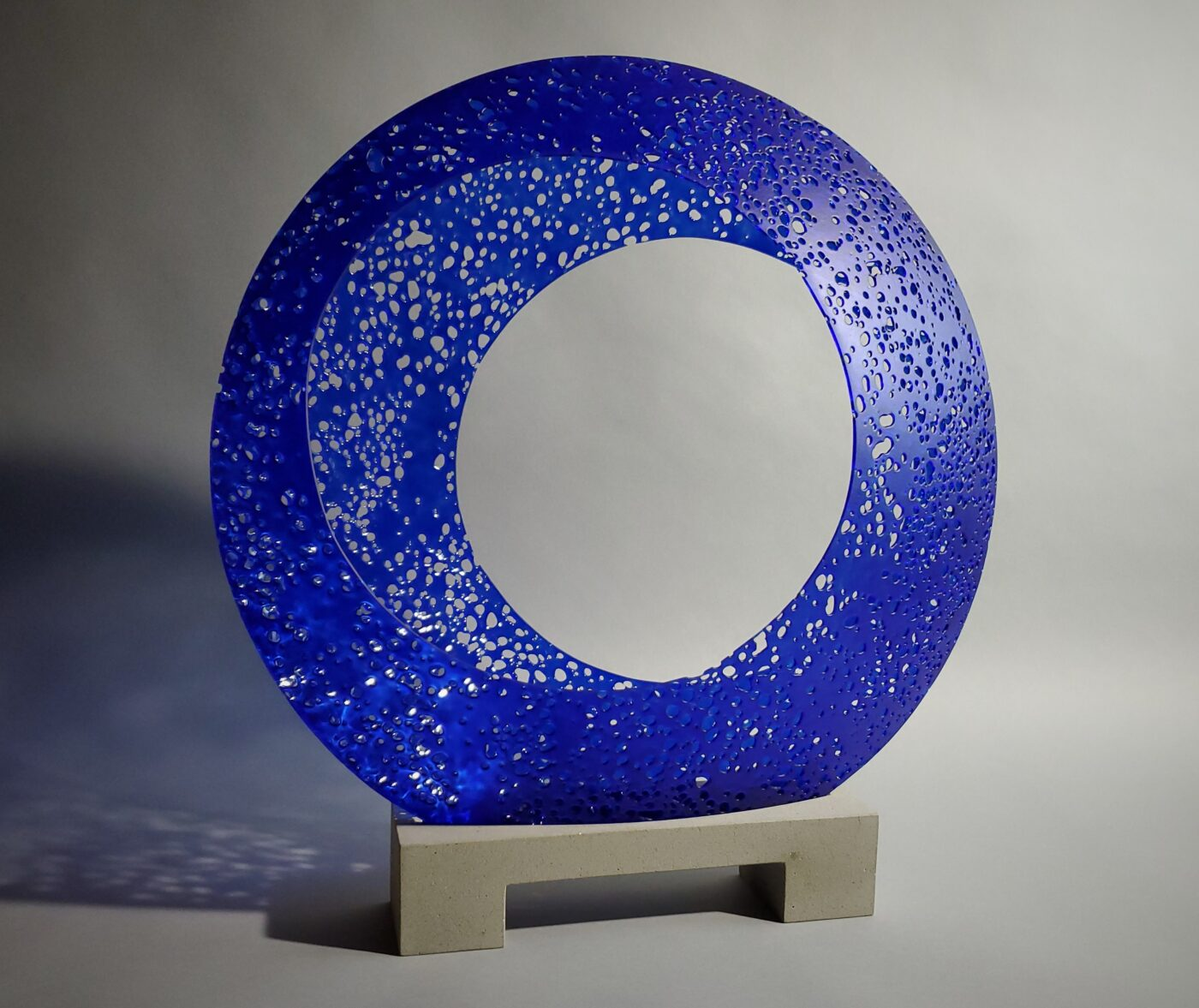 royal blue glass sculpture